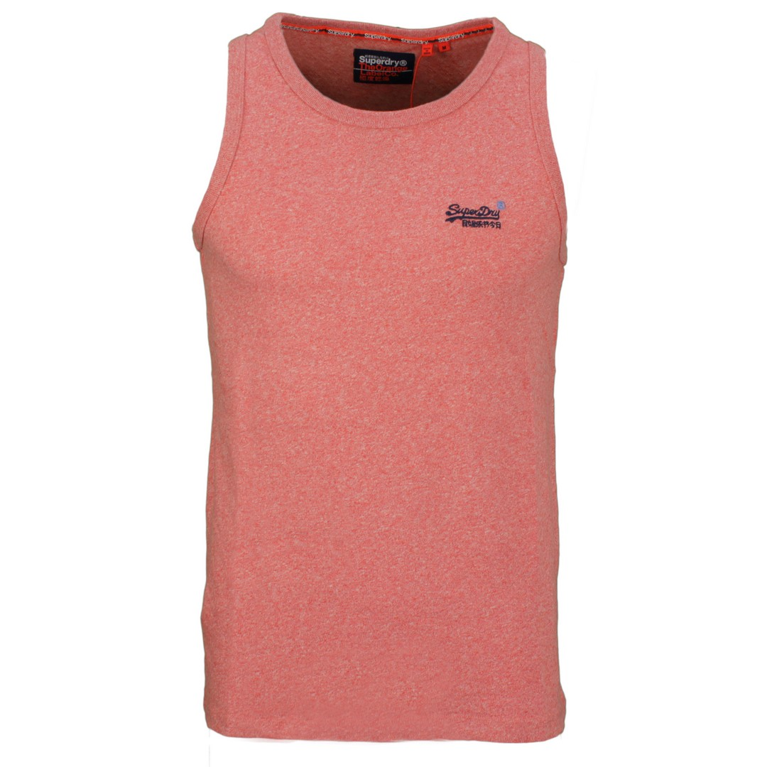 Superdry Herren Tank Top Oil Embroidery rot M6010071A 3GH granadine grit