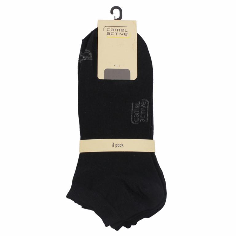 Camel active Sneaker Socken Dreierpack  schwarz 6595 610