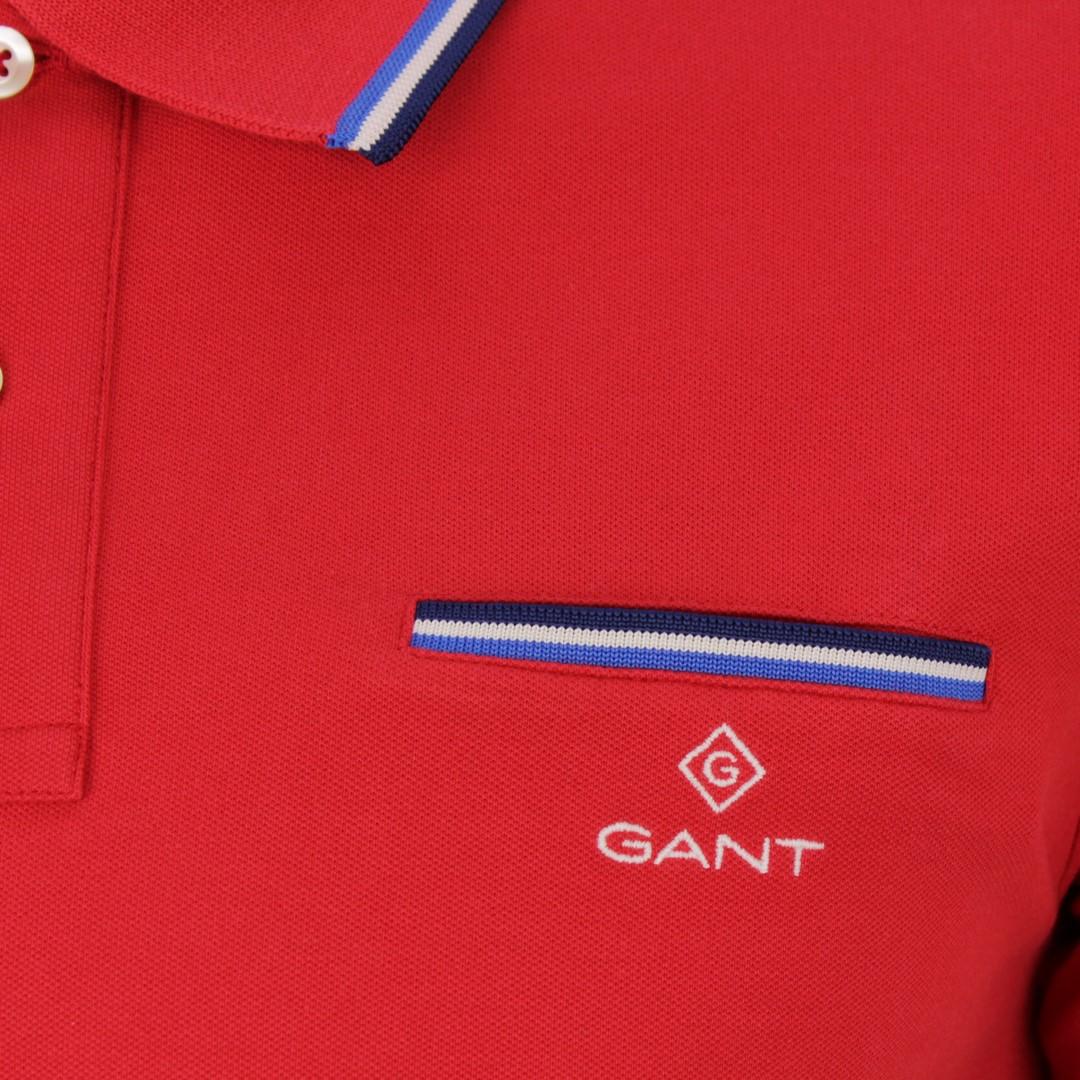 Gant Herren Polo Shirt rot unifarben 2052002 620