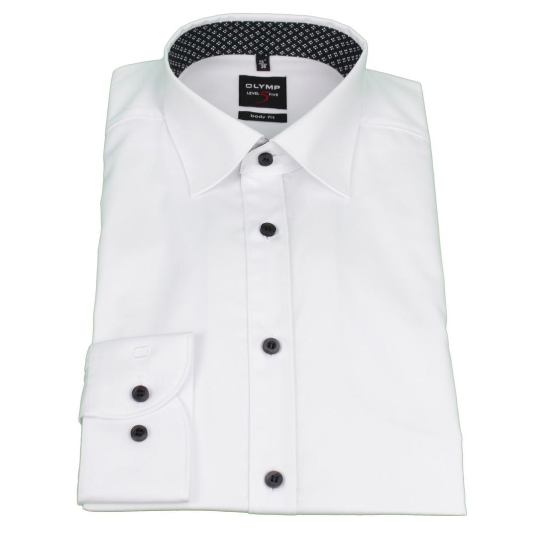 Olymp Body Fit Level 5 Hemd weiß unifarben 4887 23 00
