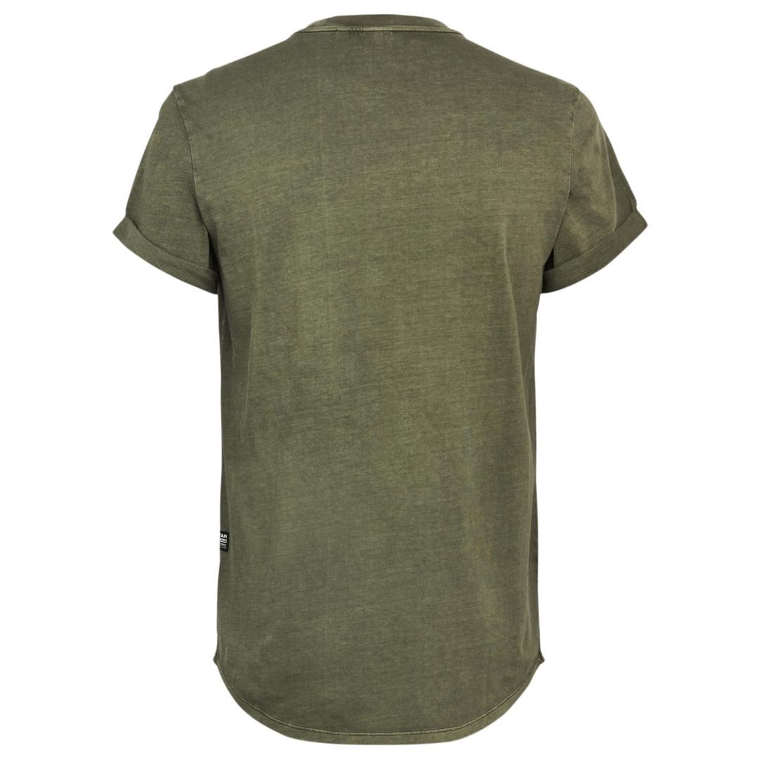 G-Star Raw Herren T-Shirt Lash Round Neck Olive grün unifarben D16396 2653 C249