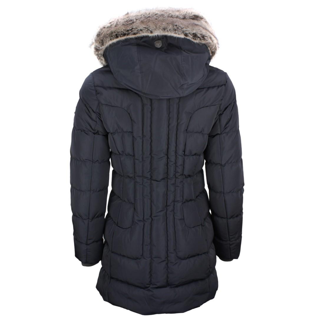 Wellensteyn Damen Winter Jacke Mantel Astoria Long blau ASTL 560 midnightblue
