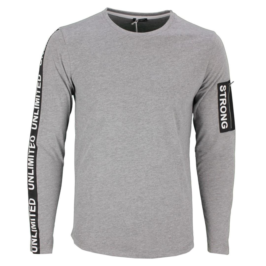 Key Largo Herrren langarm Shirt grau MLS Sight silver