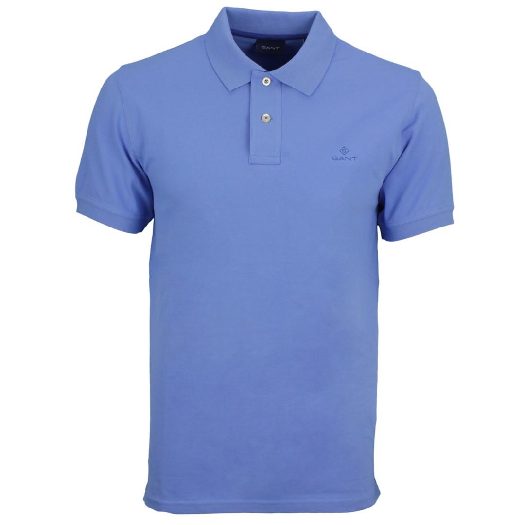 Gant Polo Shirt Contrast Collar Pique Rugger blau 2052003 445 Pacific blue