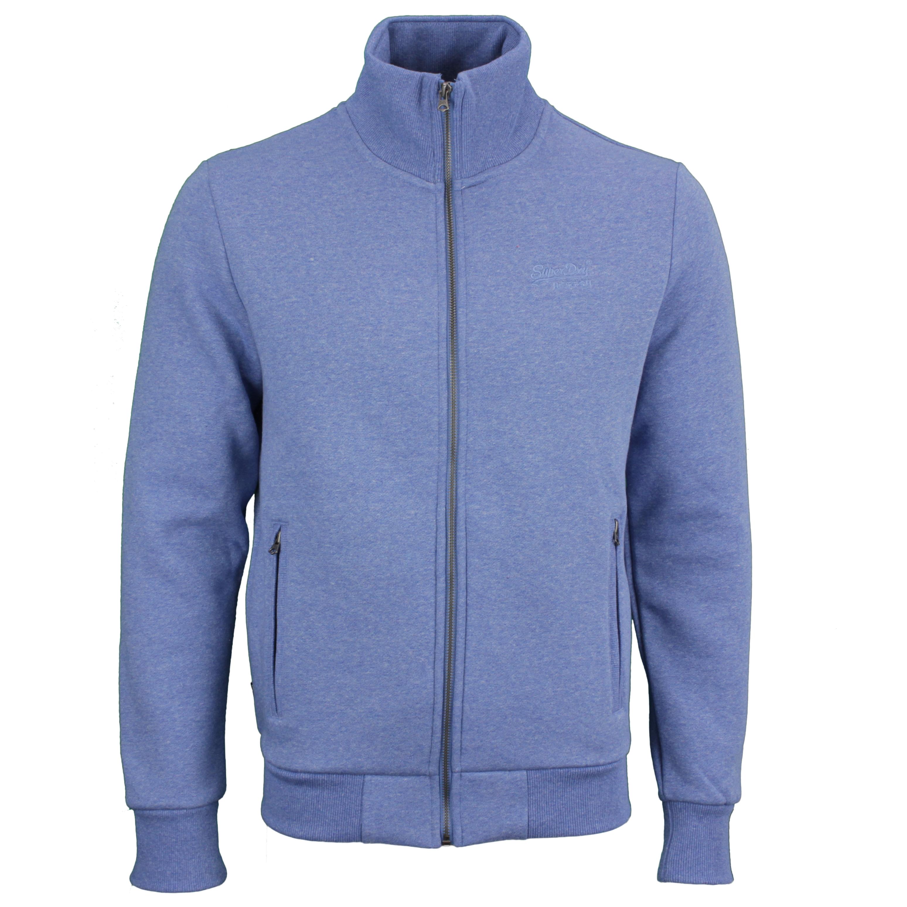 Superdry Sweat Jacke Sweatjacke Weste Ziphood  M2011042A 5ED blue Dark Cobalt Marl