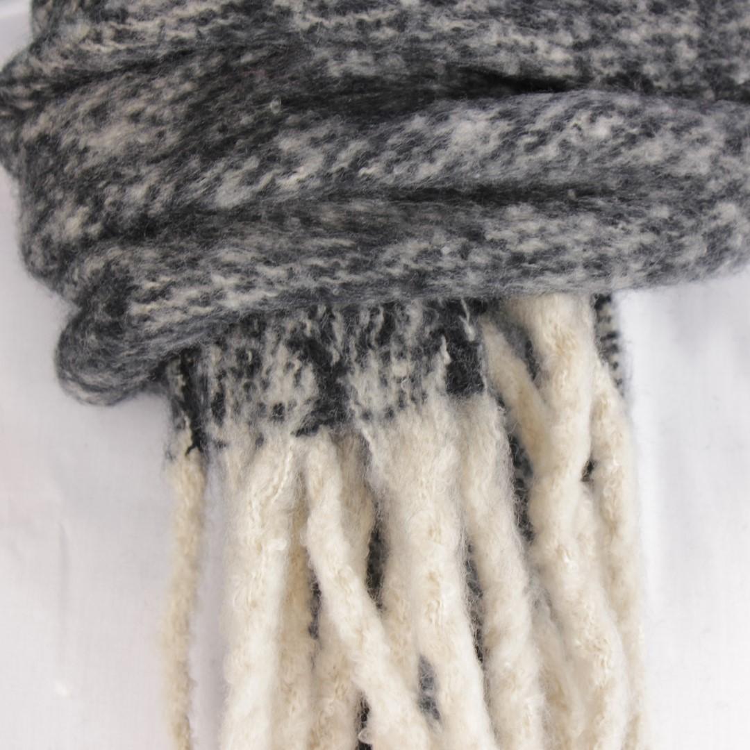 Anerkjendt Winter Schal beige grau meliert 9518802 caviar