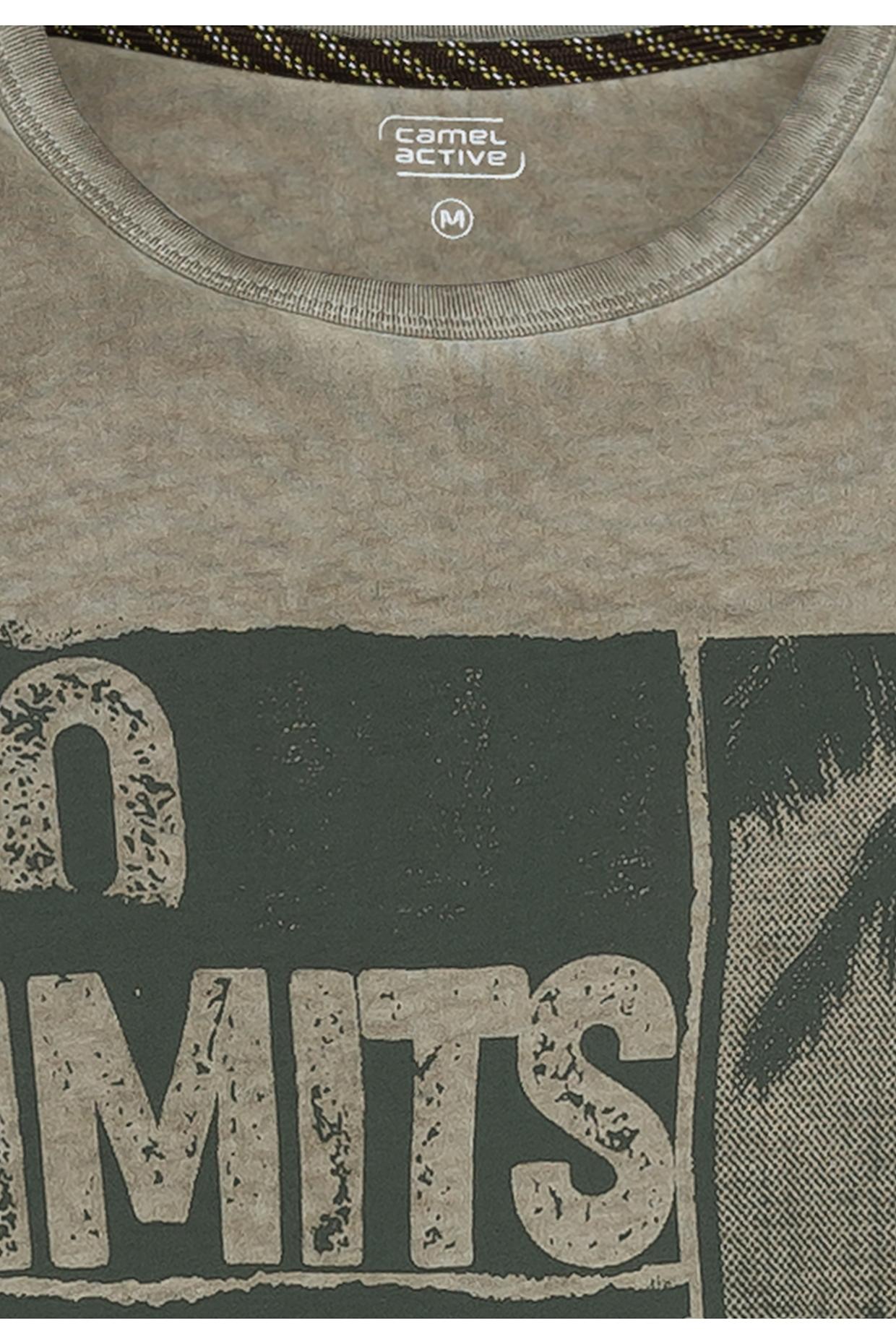 Camel active T-Shirt Khaki grün Print 5T27409643 31