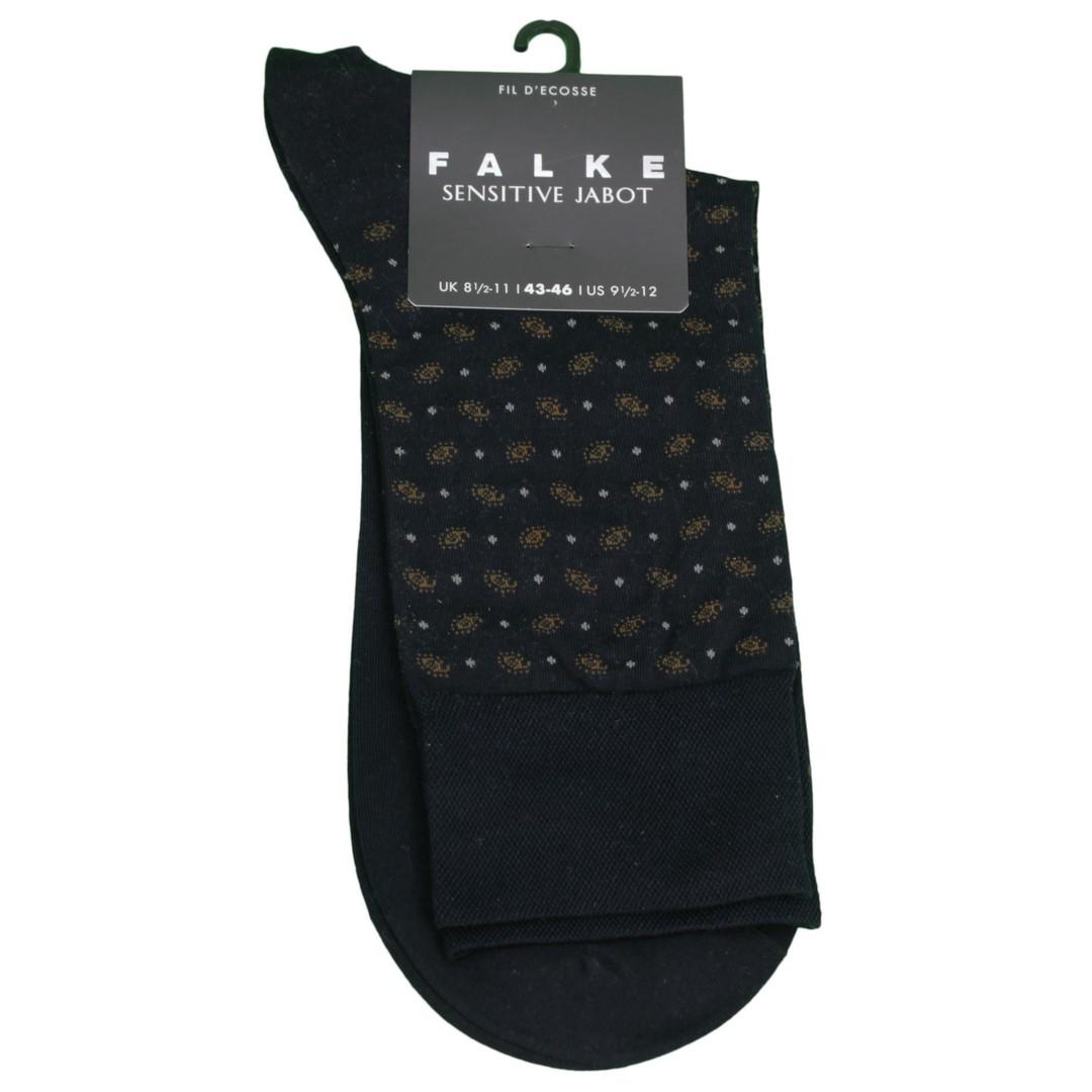Falke Sensitive Socke Jabot blau gemustert 13344 6376