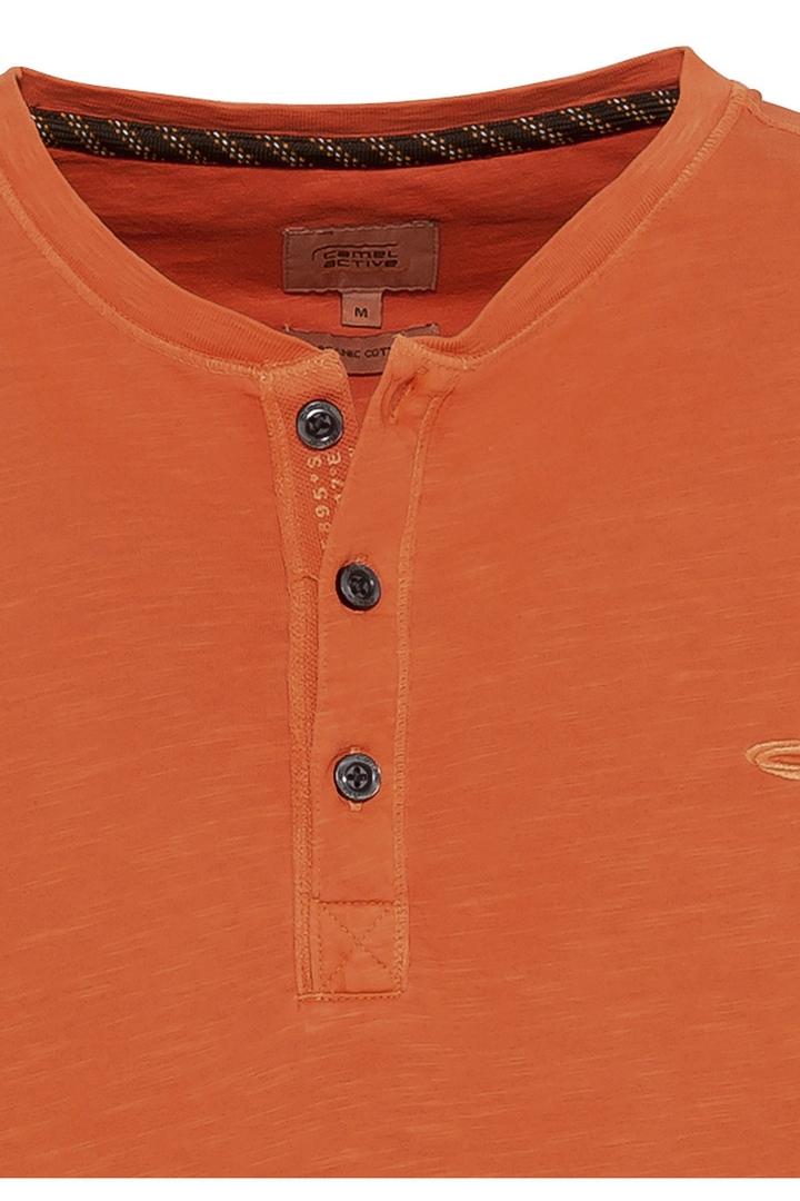 Camel active T-Shirt orange unifarben 5T04409474 55