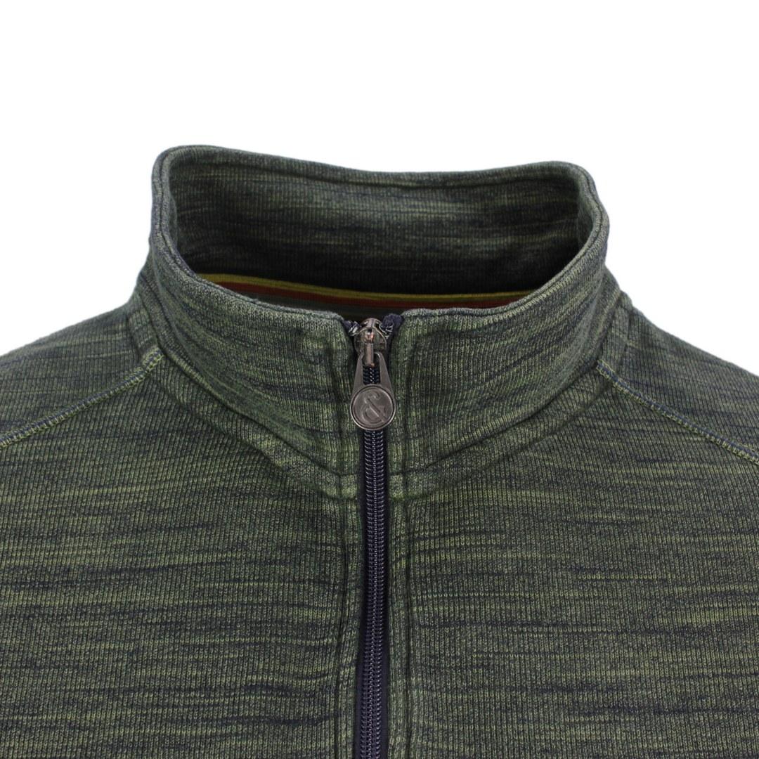 Colours & Sons Herren Sweatshirt Halfzip blau unifarben 9221 431 799 olive