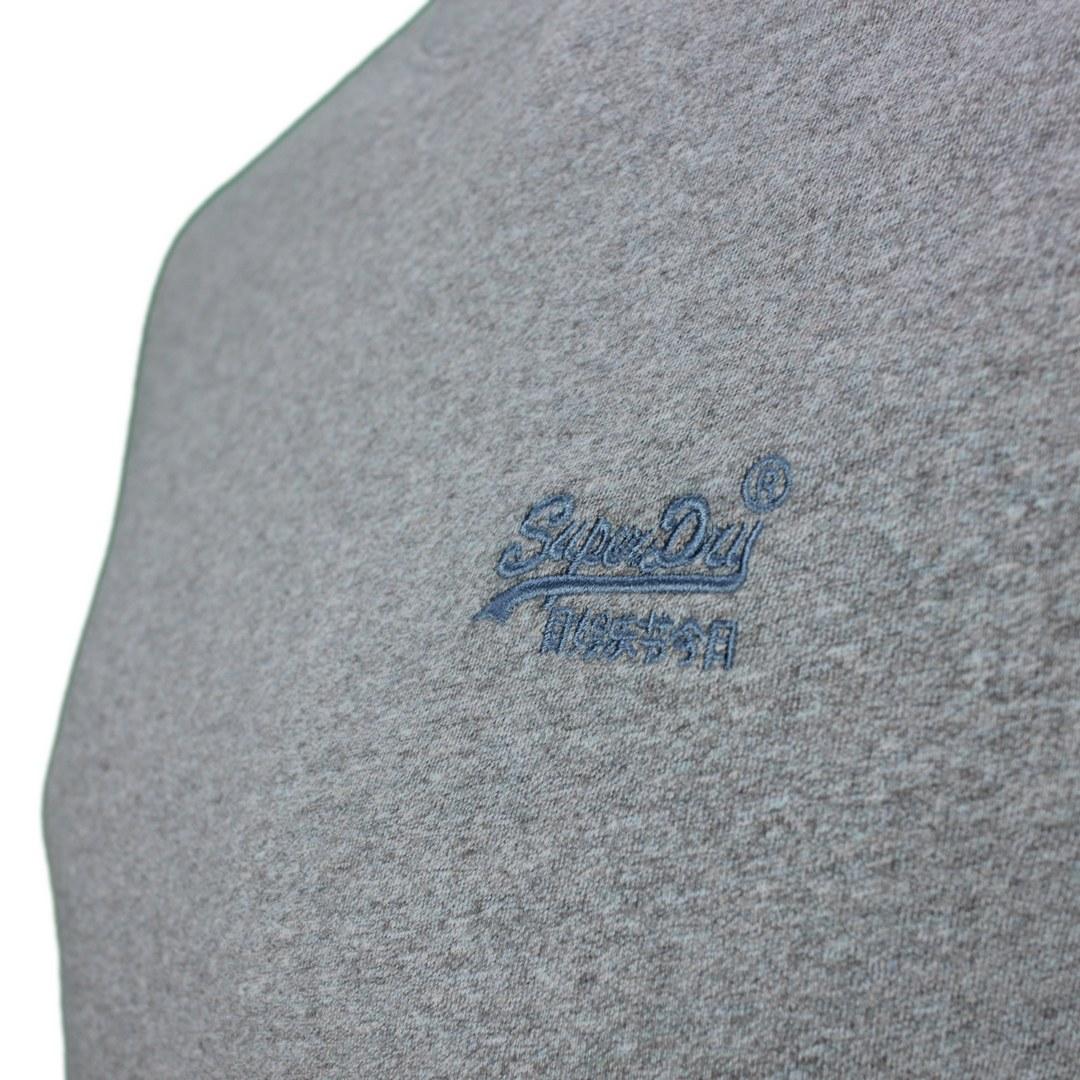 Superdry T-Shirt Rundhals Shirt Vintage Logo Emb Tee unifarben M1011245A 3YM coastal blue