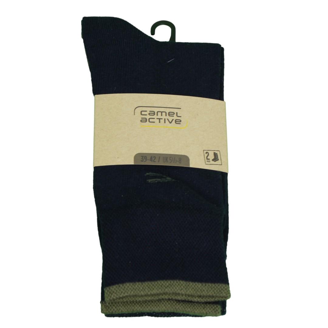 Camel active Socken Doppelpack dunkel blau 6438 325
