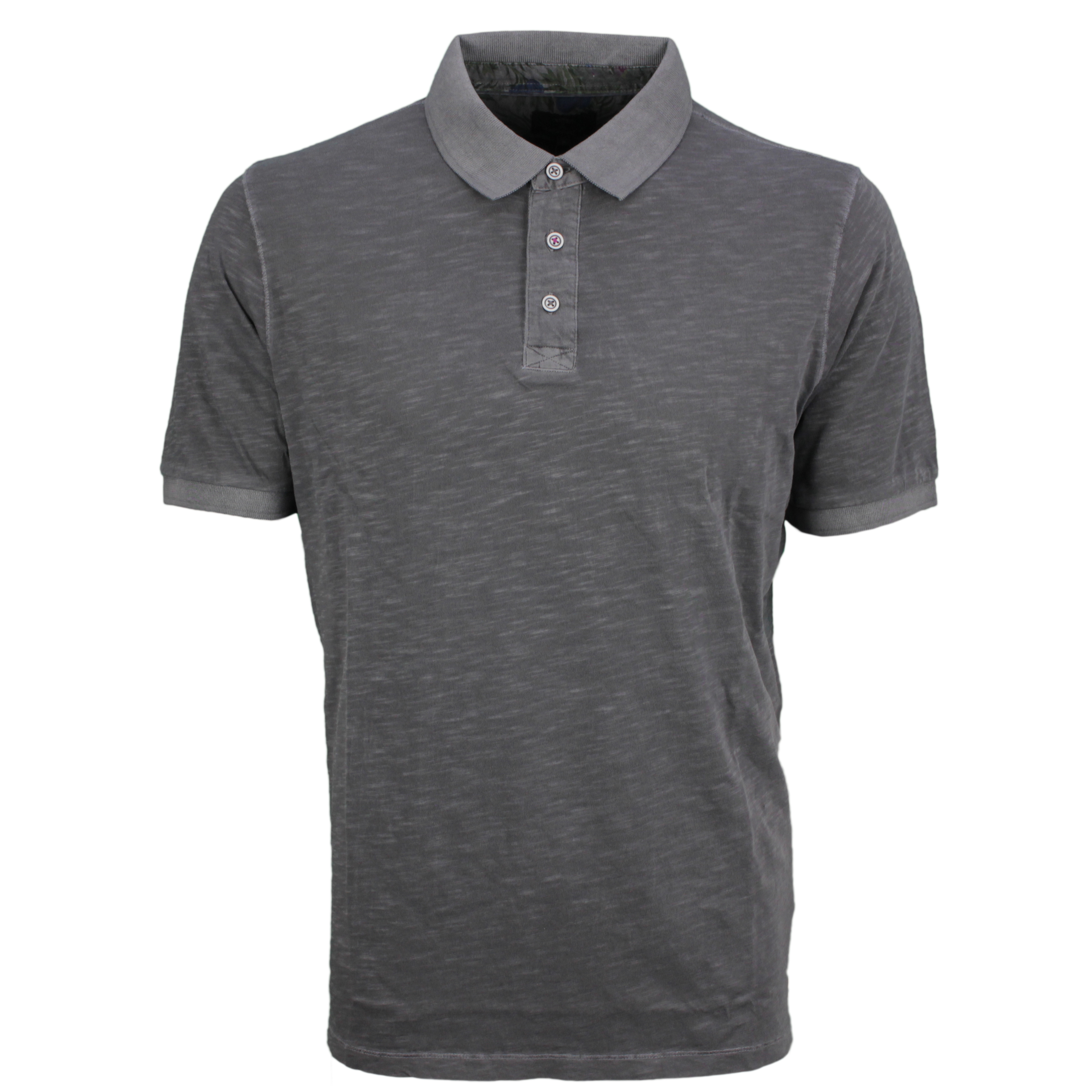 Fynch Hatton Herren Polo Shirt anthrazit meliert 11211740 970 asphalt