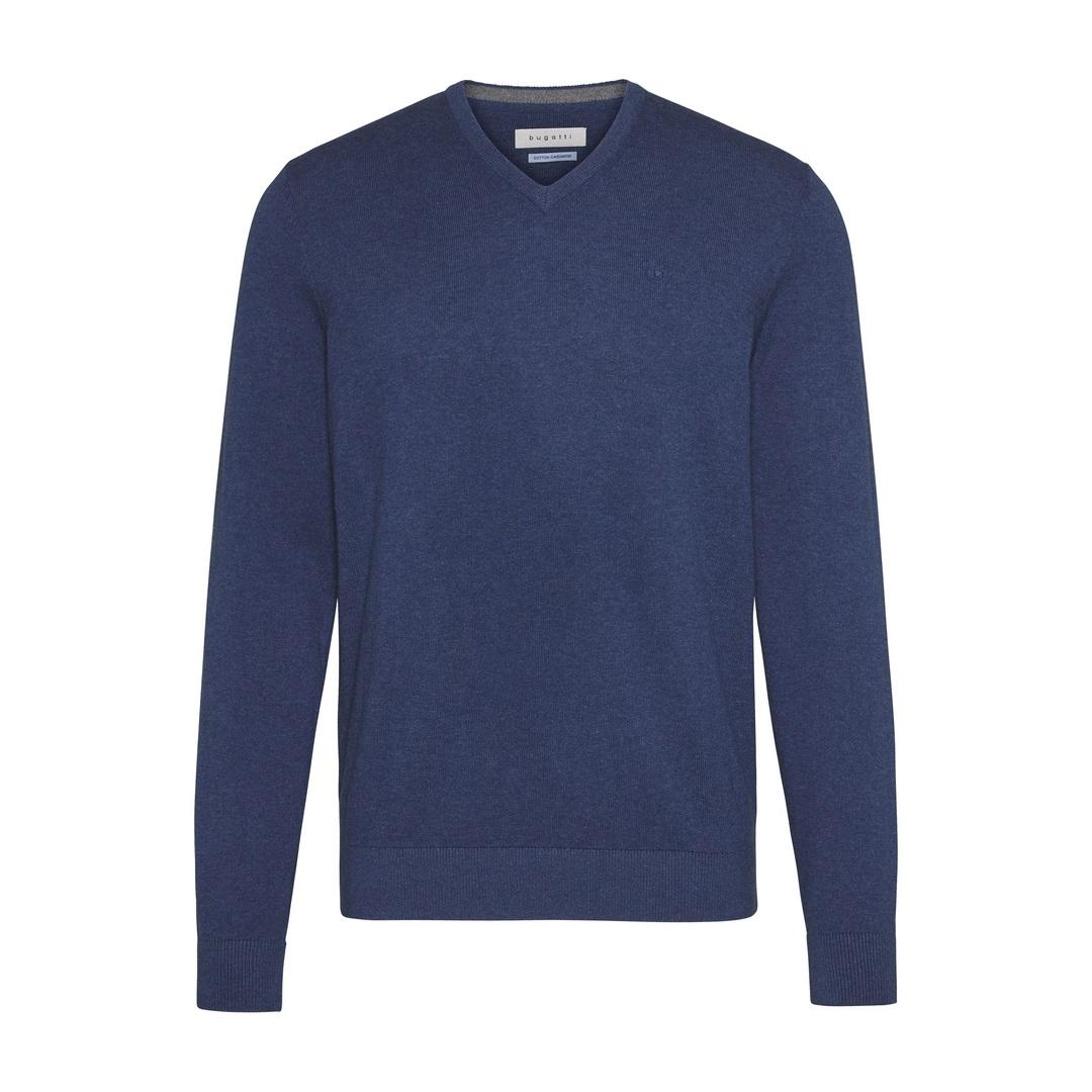 Bugatti Herren Strick Pullover Strickpullover Langarm blau 45520 7350 176 370