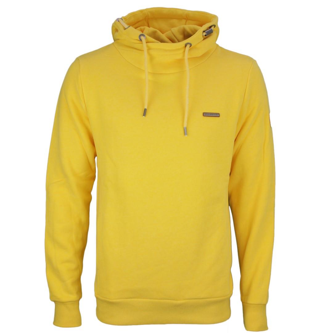Ragwear Herren Sweat Pullover Vegan gelb unifarben 2112 30006 6028 yellow Nate