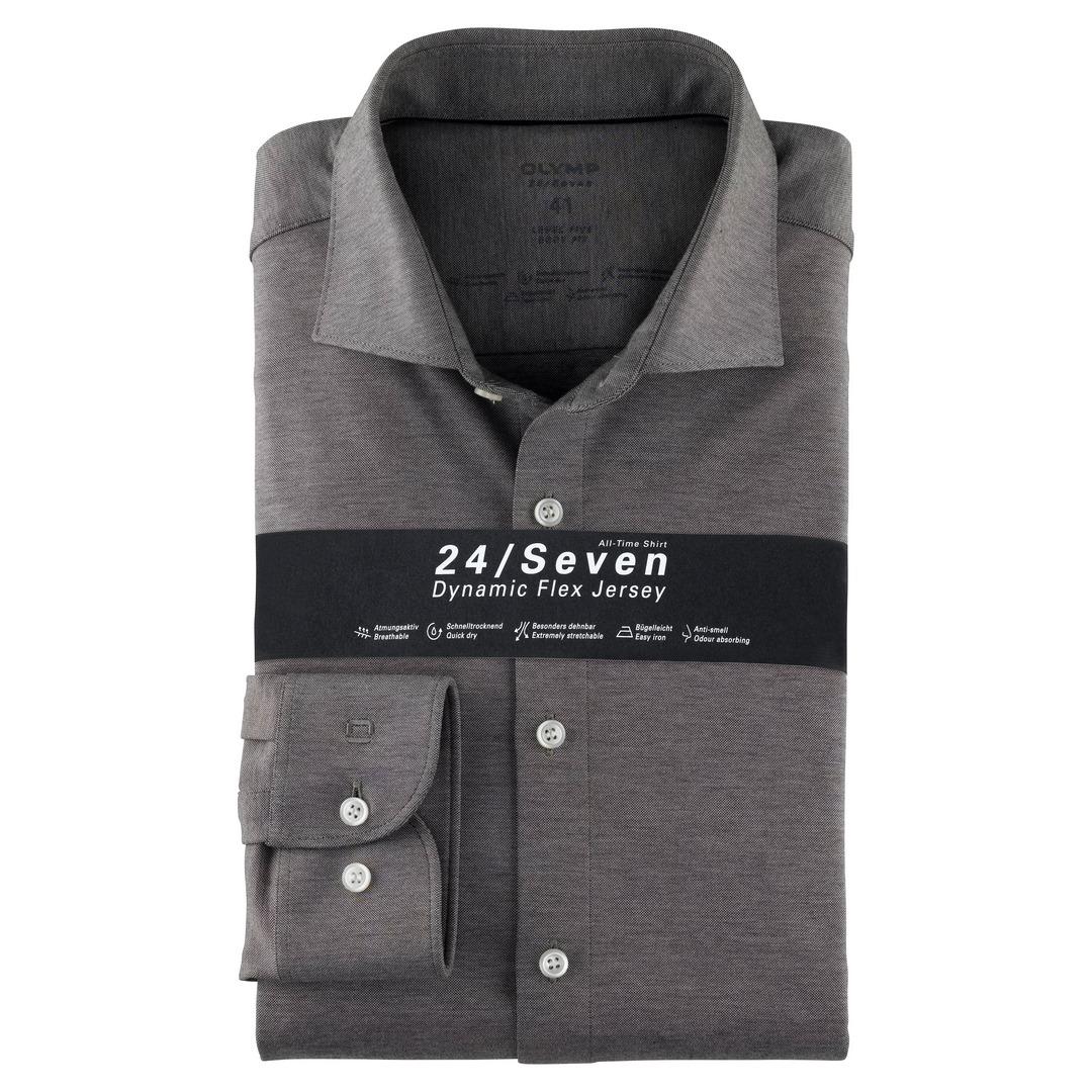 Olymp Level Five 24/Seven Dynamic Flex Jersey Body Fit Hemd Businesshemd 200684 69 graphit