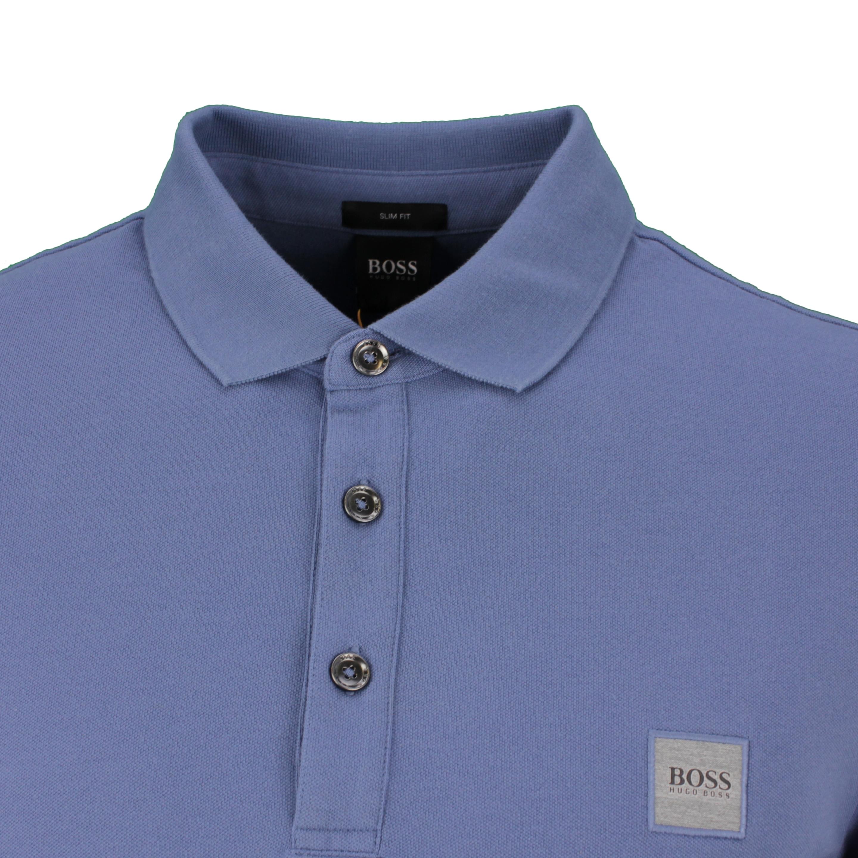 Hugo BOSS Rugby Shirt Langarm Shirt Langarmshirt blau Passerby 50387465 489 Open Blue