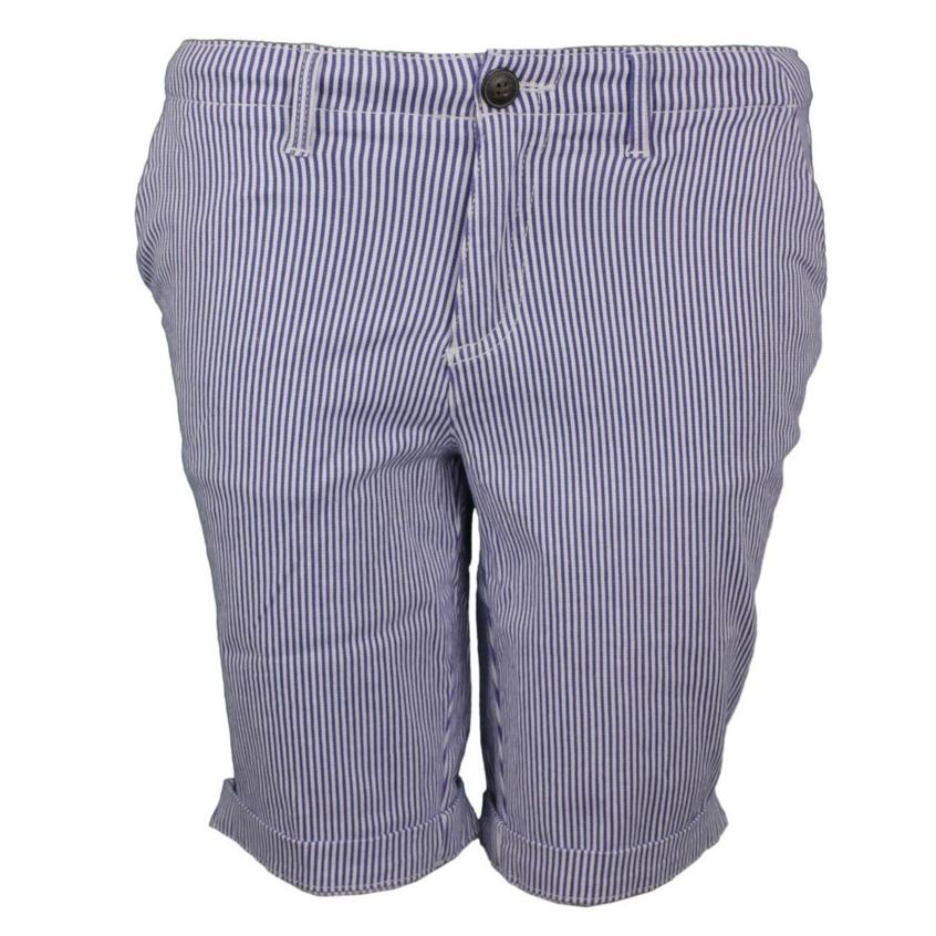Superdry Damen Shorts City Chino Short blau weiß gestreift W7110007A JKC stripe