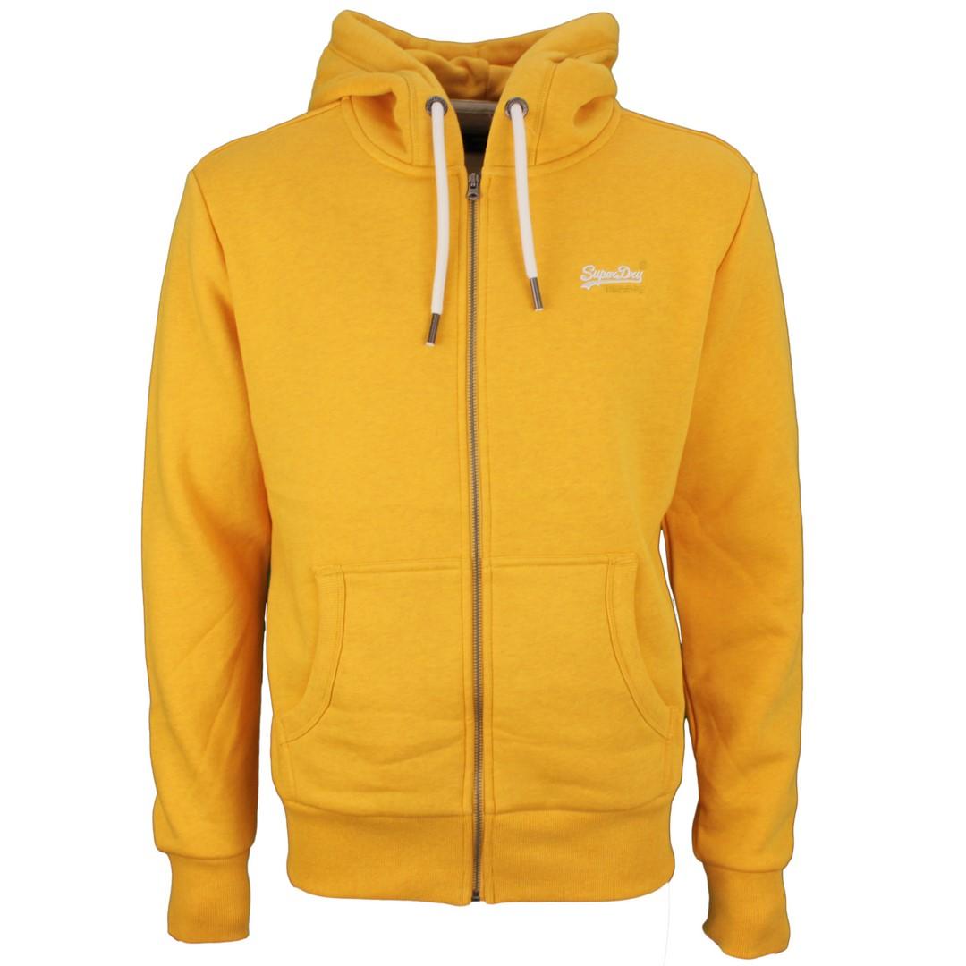 Superdry Herren Sweat Jacke Classic Zip Hood gelb M2010227A 3PP Upstate Gold Marl