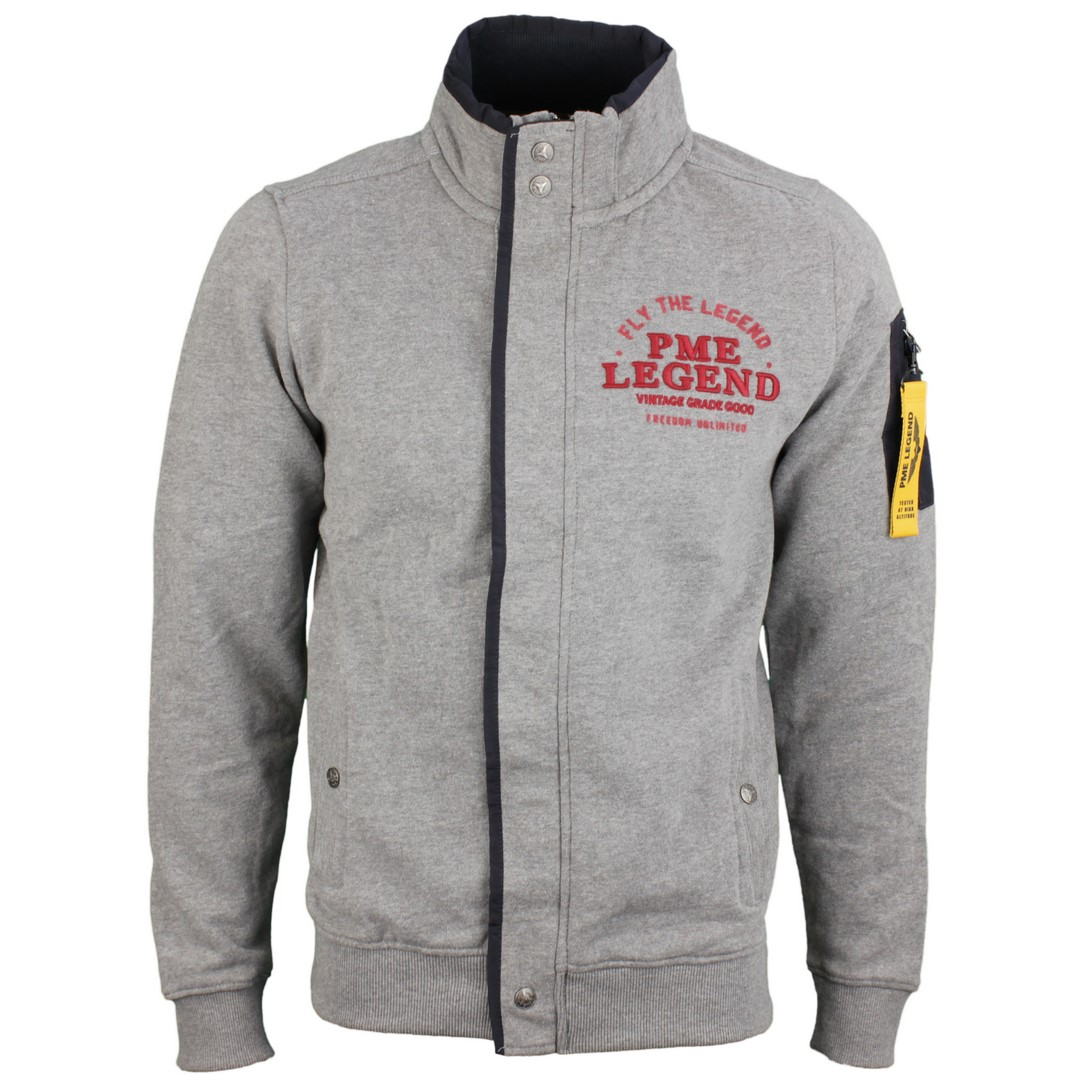PME Legend Herren Sweat Jacke grau PSW185410 940
