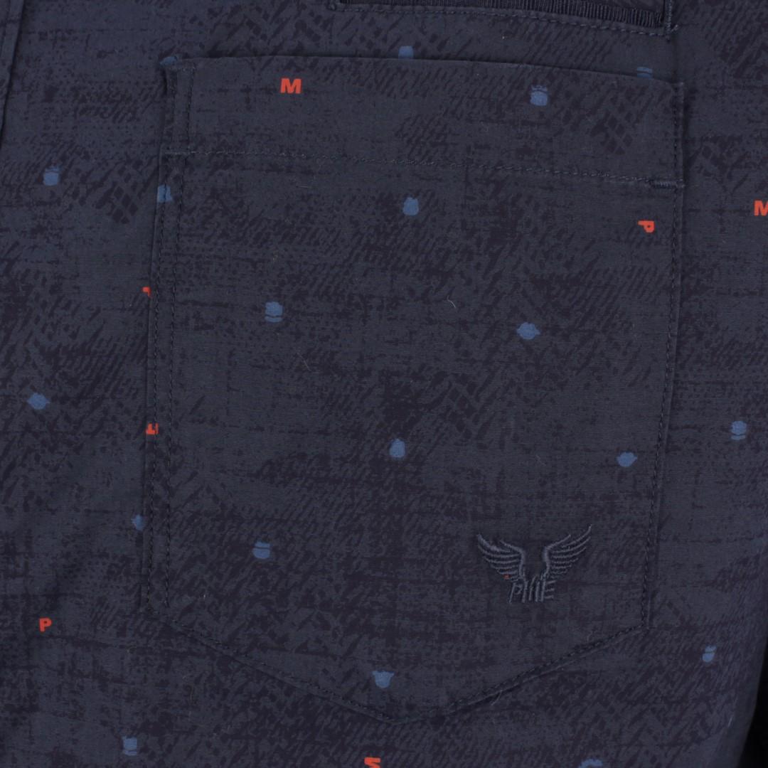 PME Legend Freizeit Hemd blau Minimal Muster PSI205226 5288
