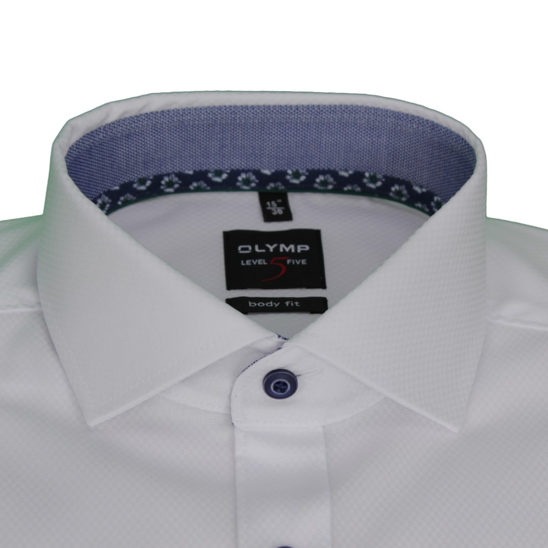 Olymp Body Fit Level 5 Hemd weiß unifarben 2038 54 00