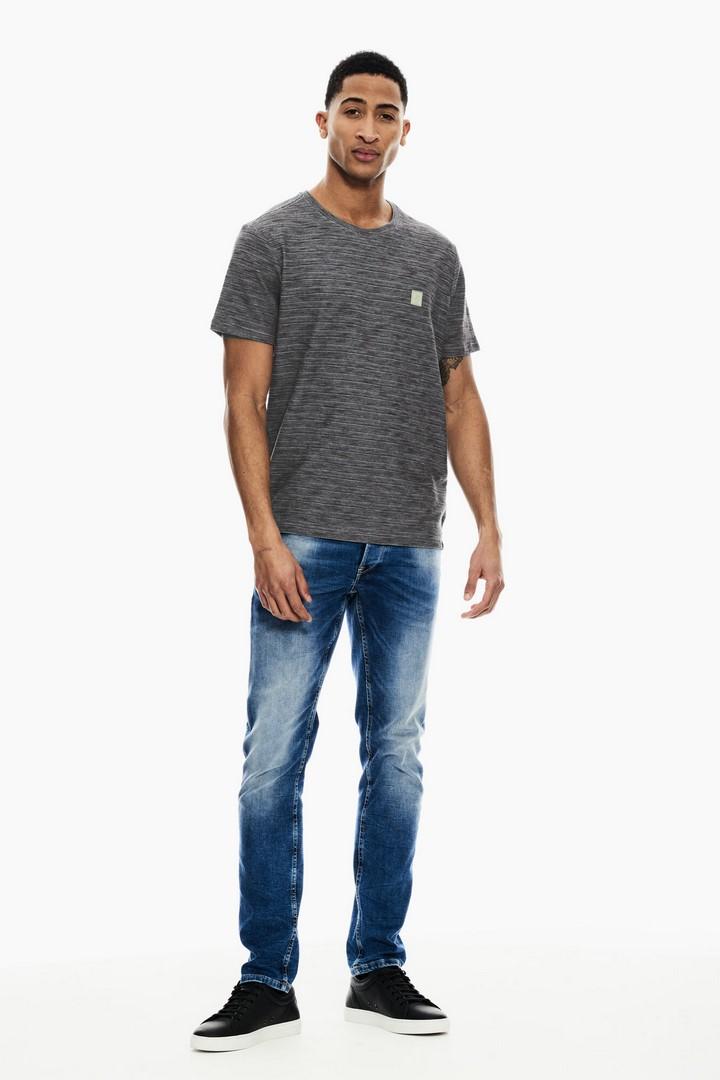 Garcia Herren T-Shirt Shirt kurzarm mehrfarbig meliert GS110201 4009 fresh olive