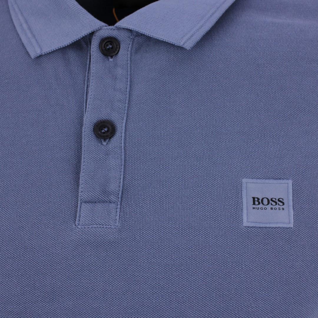 Hugo BOSS Herren Polo Shirt blau Piqué unifarben Prime 50378365 489