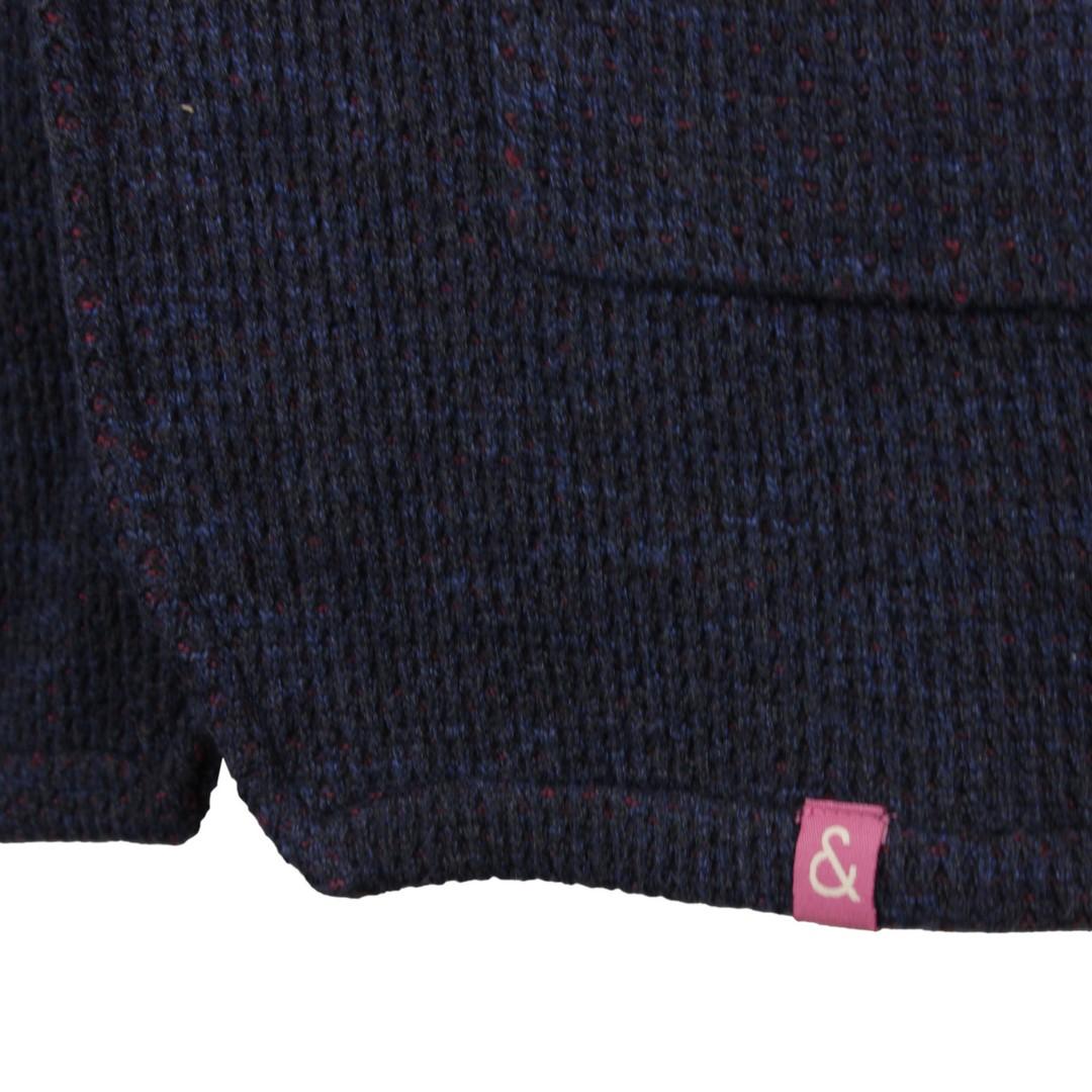 Colours & Sons Herren Strick Sakko Jacke blau meliert 9220 165 699