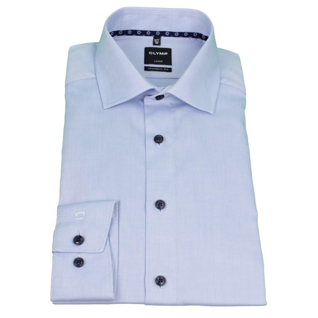 Olymp Modern Fit Hemd blau unifarben 4887 35 11