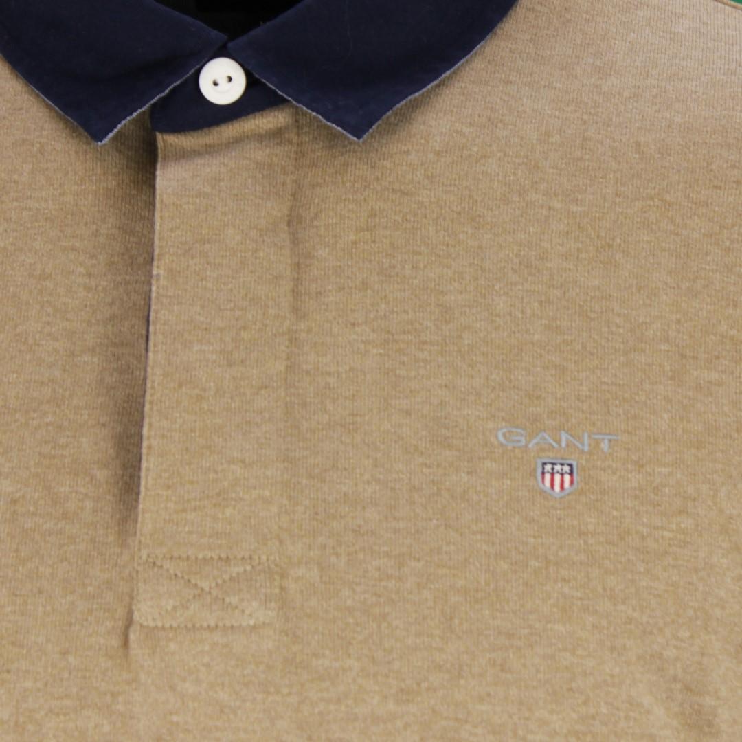 Gant Herren Rugby Shirt The original heavy Rugger beige unifarben 2005050 295