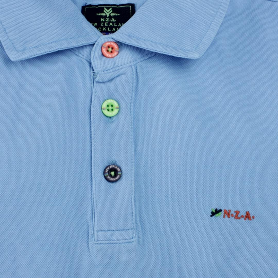 New Zealand Auckland NZA Polo Shirt hell  blau 21CN150 296
