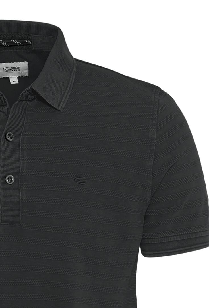 Camel active Herren Polo Shirt anthrazit gestreift 5P11409464 88