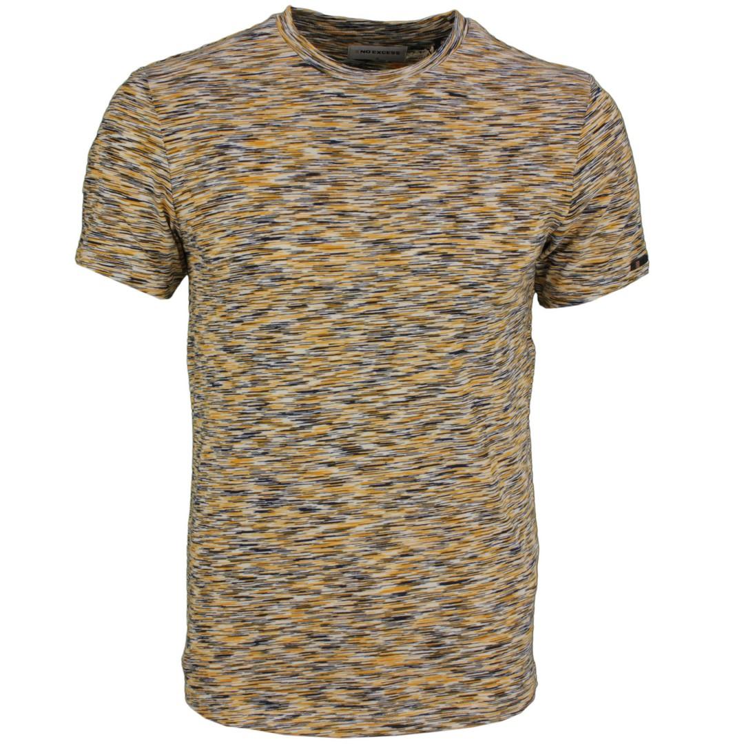 No Excess Herren T-Shirt mehrfarbig meliert 11340208S 011 Offwhite