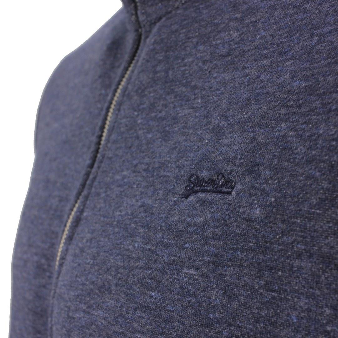 Superdry Sweat Jacke Weste blau M2011447A ZE2 Vintage Navy Marl Vintage Logo EMB Zip Track