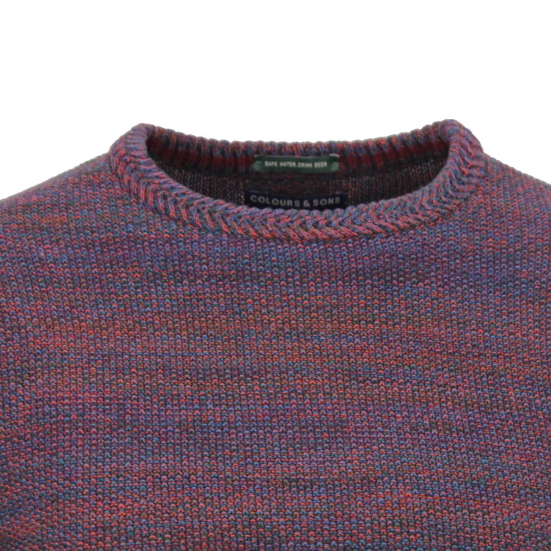 Colours & Sons Herren Strick Pullover Strickpullover mehrfarbig meliert 9220 131 904