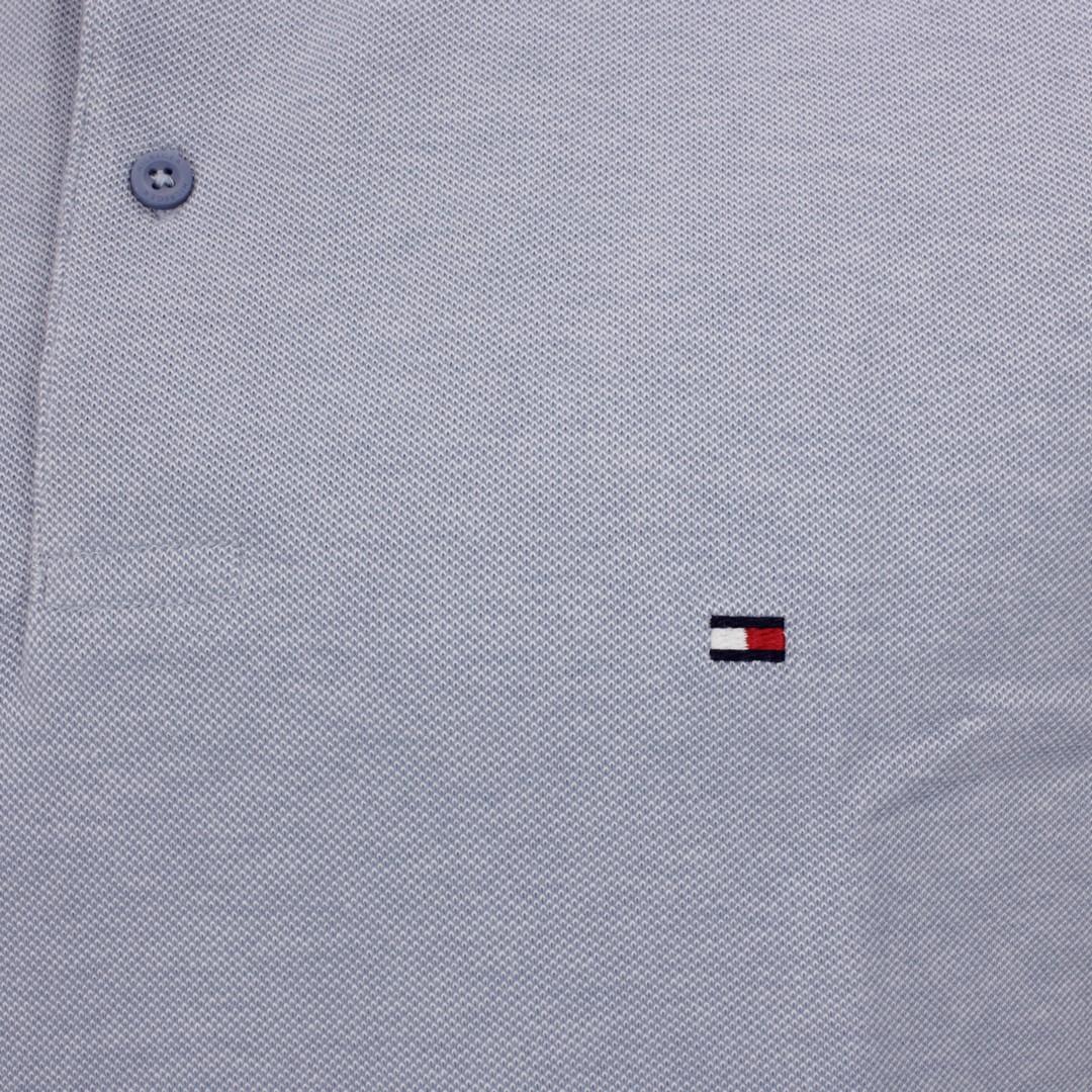 Tommy Hilfiger Oxford Regular Polo Shirt blau MW0MW17781 DY8 Colorado Indigo