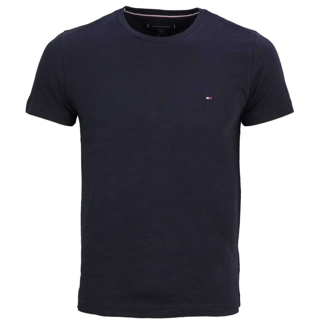 Tommy Hilfiger Herren T-Shirt marine blau unifarben MW0MW14983 DW5