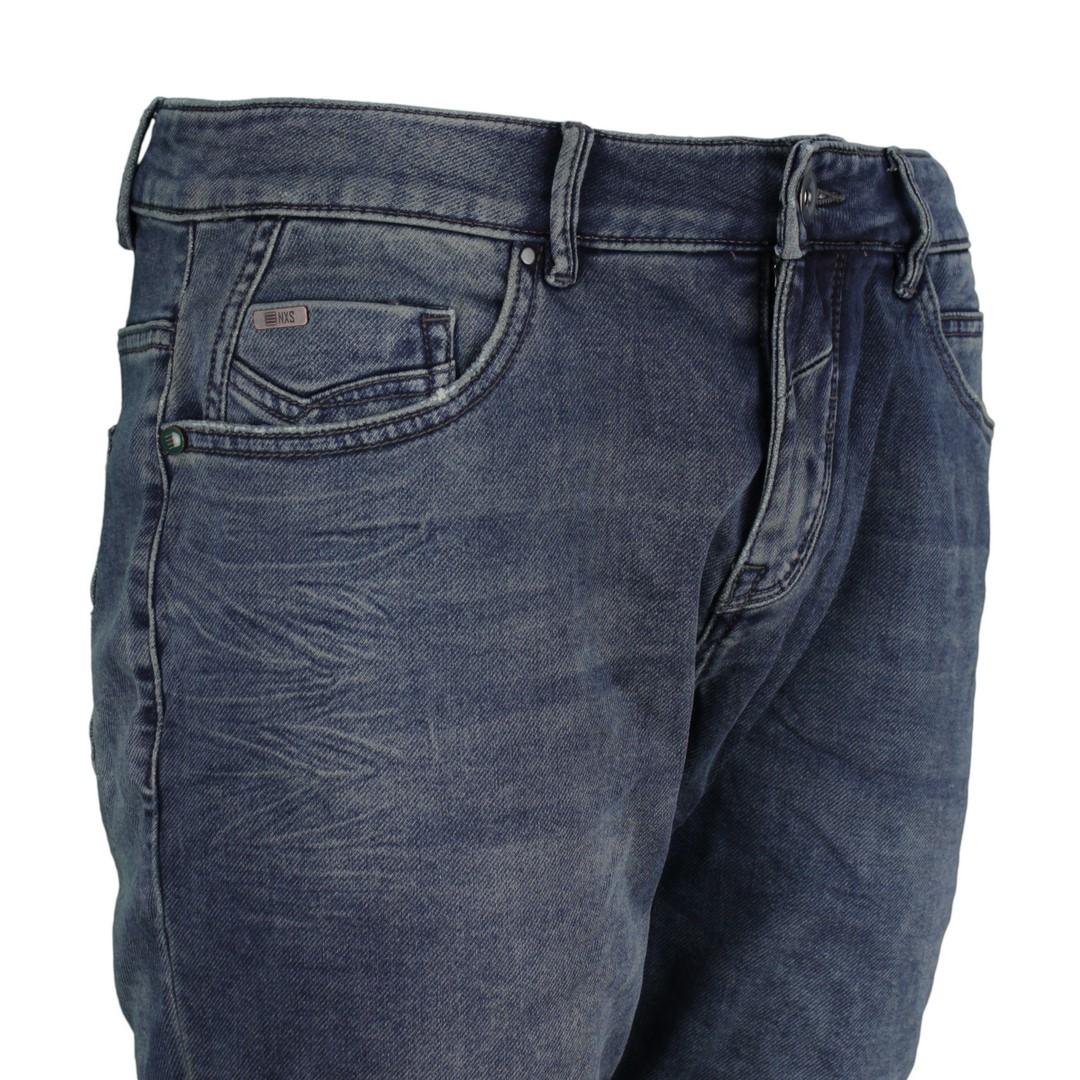No Excess Herren Jog Jeans Short dunkel blau 958190301 220