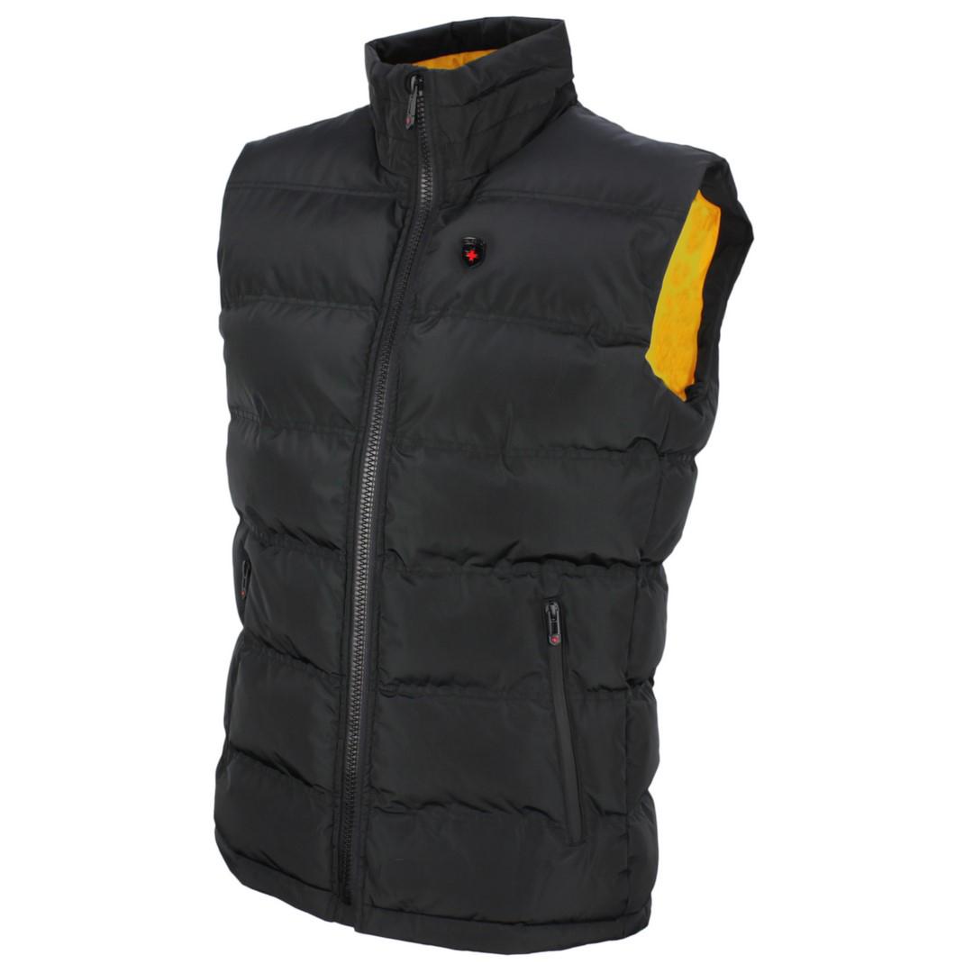 Wellensteyn Herren Weste Snowdome Vest Men schwarz Unifarben SNVM 560 black