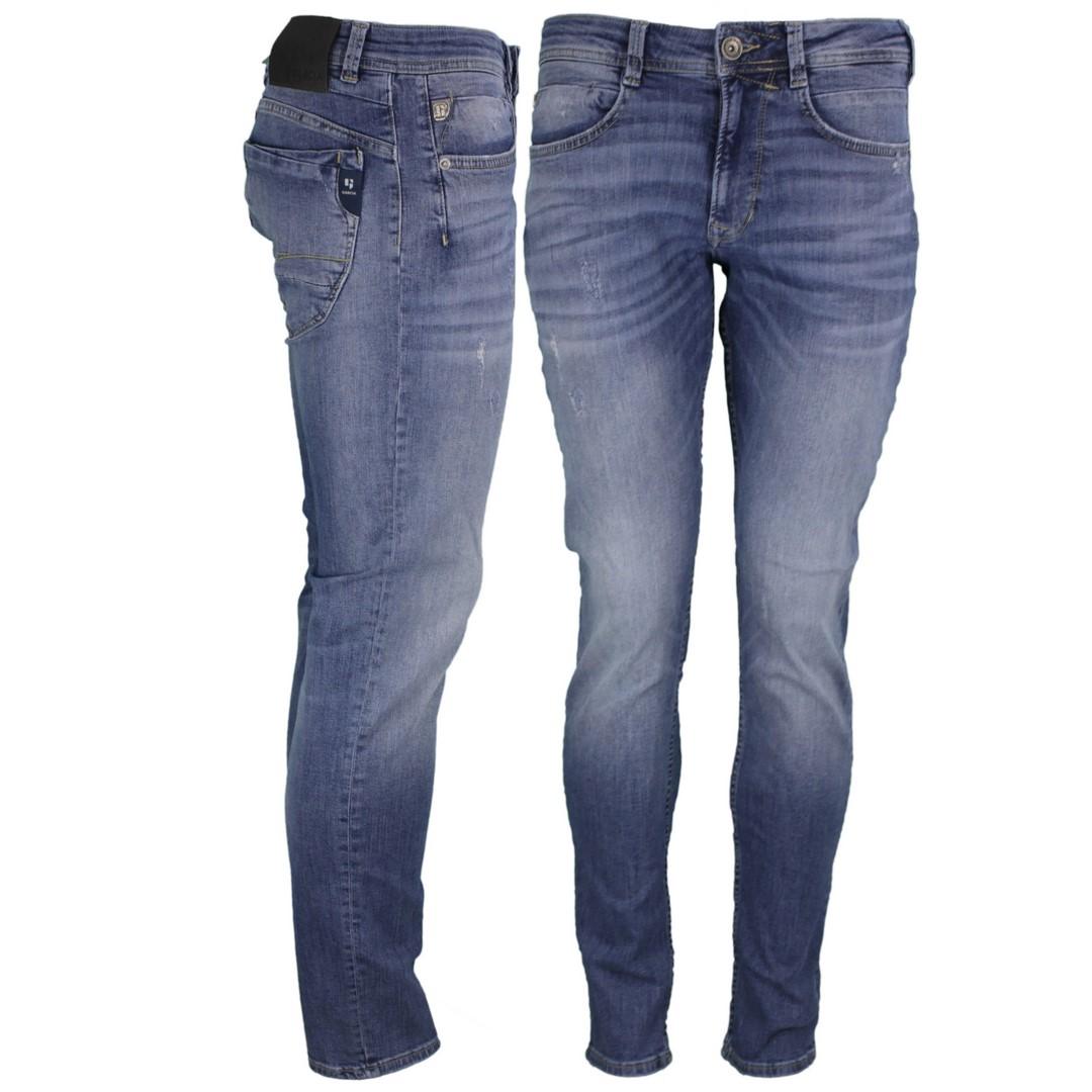Garcia Herren Jeans Hose Jeanshose blau Stone Washed Rocco 690 9530 Vintage Used