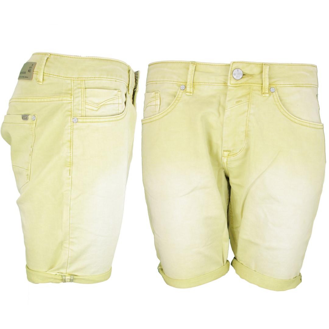 No Excess Herren Jeans Short gelb Used 868190409 56