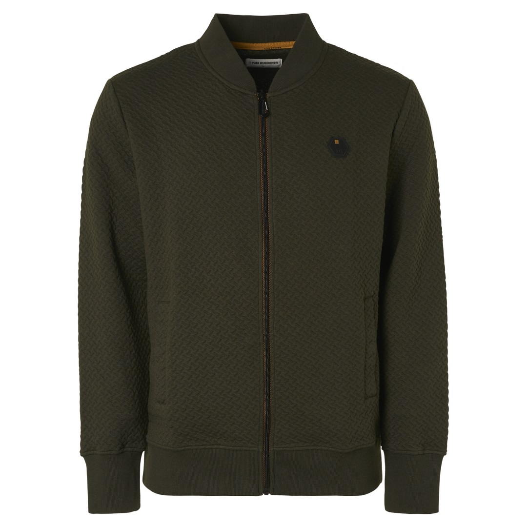 No Excess Sweat Jacke Sweatjacke Sweater Zipper Jacquard Moss 12100810SN 152