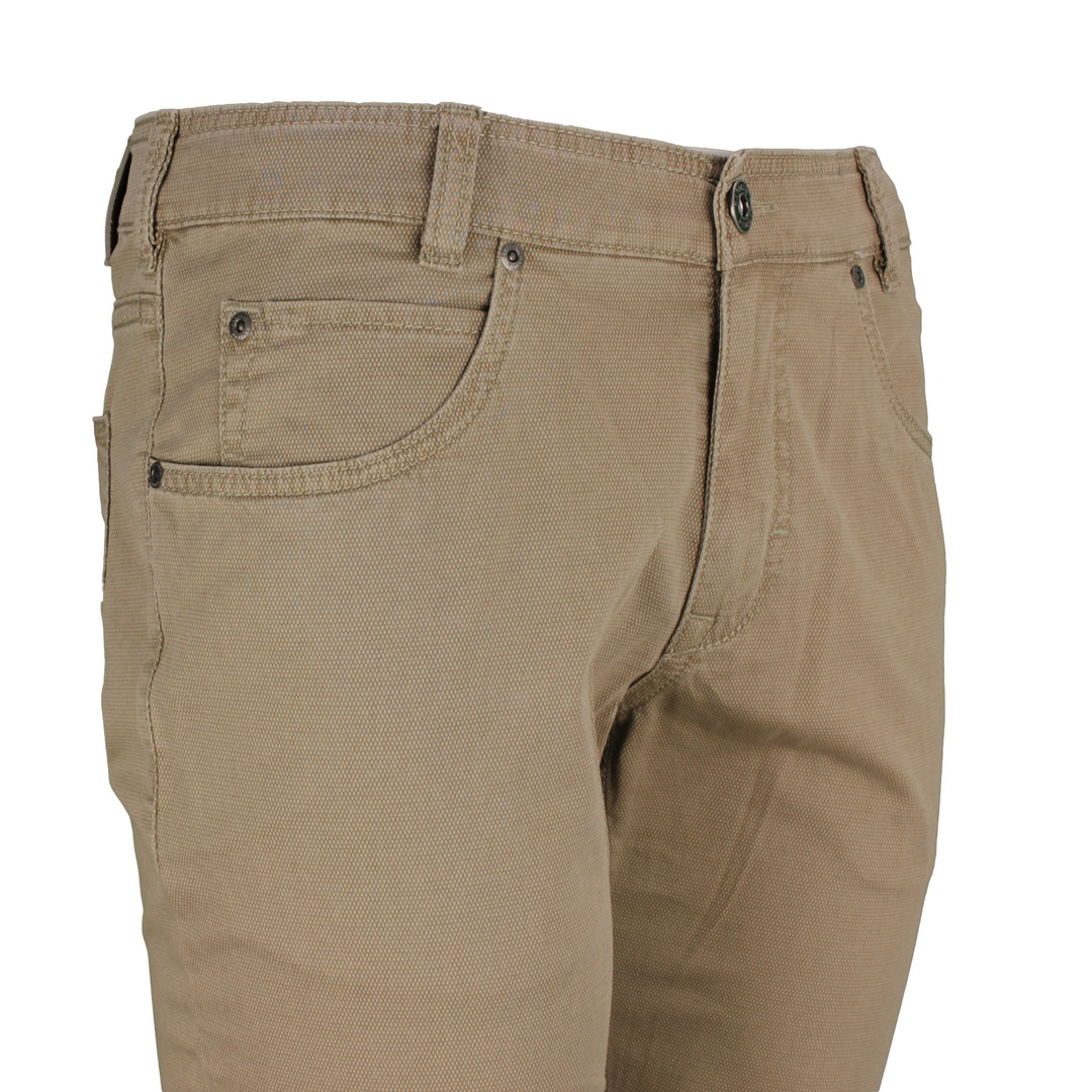 Gardeur Herren Jeans Hose beige fein gemustert BILL-3 411571 13