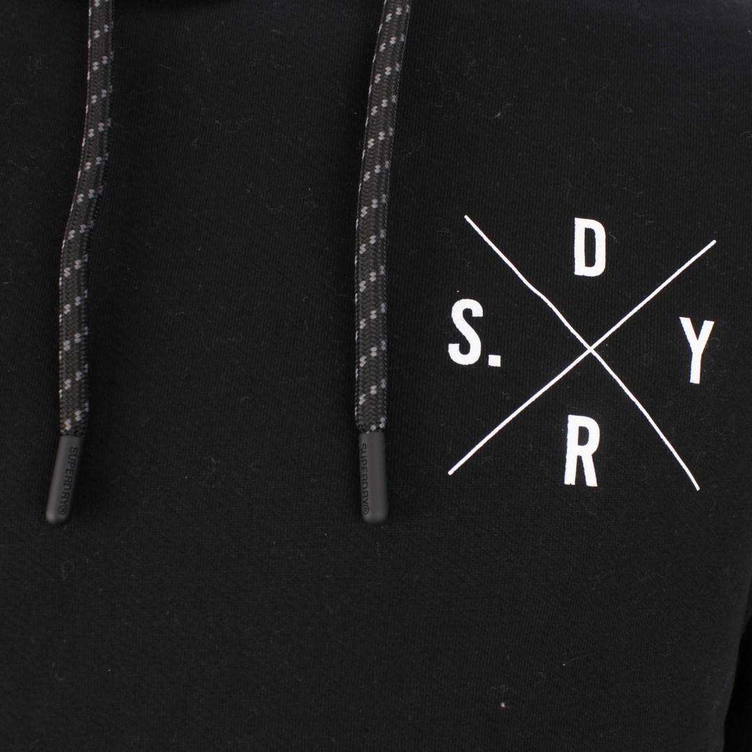 Superdry Herren Sweat Pullover Surplus Graphic Hood schwarz M2010456A 02A black