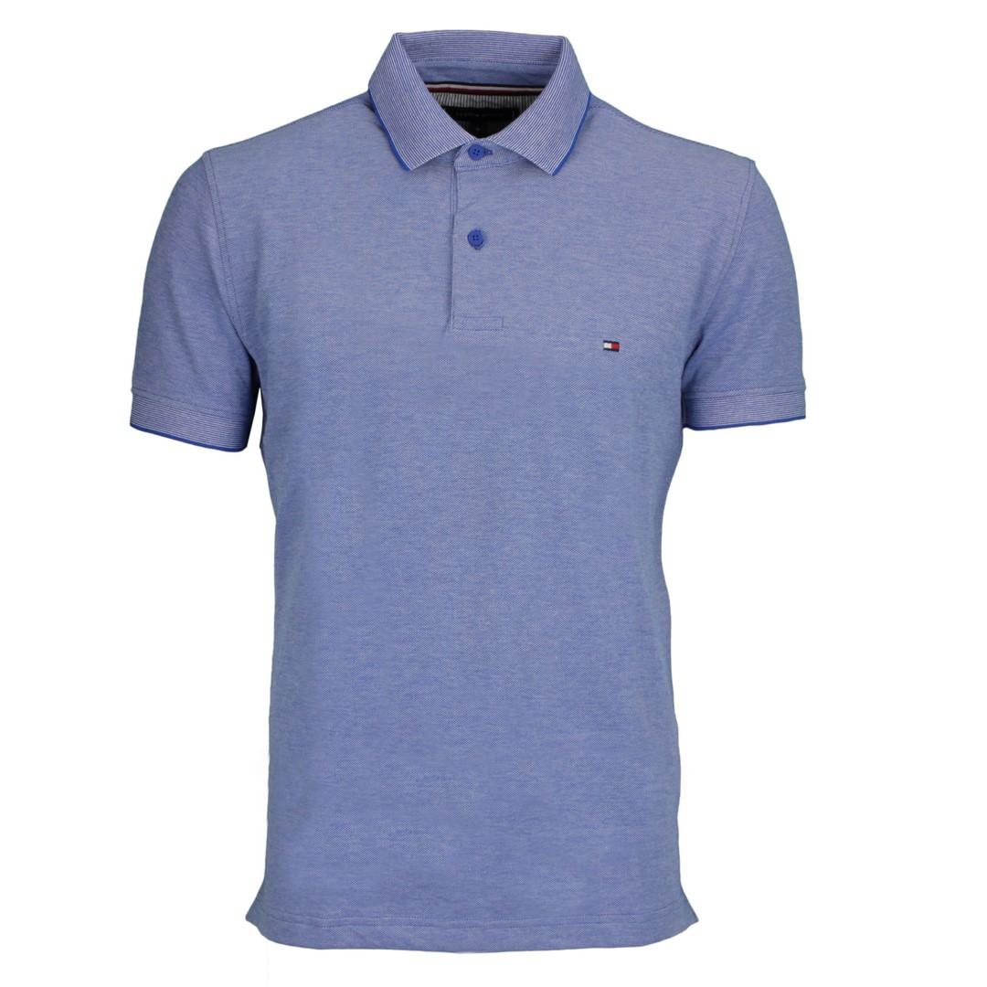 Tommy Hilfiger Herren Oxford Regular Polo Shirt blau MW0MW17781 D02 Bio Blue