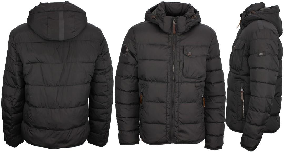 Camel active Herren Winter Jacke gesteppt schwarz 2X23 420800 09