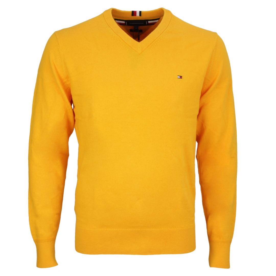 Tommy Hilfiger Herren Strick Pullover Pima Cotton Cashmere  gelb MW0MW11673 ZEY Yellow