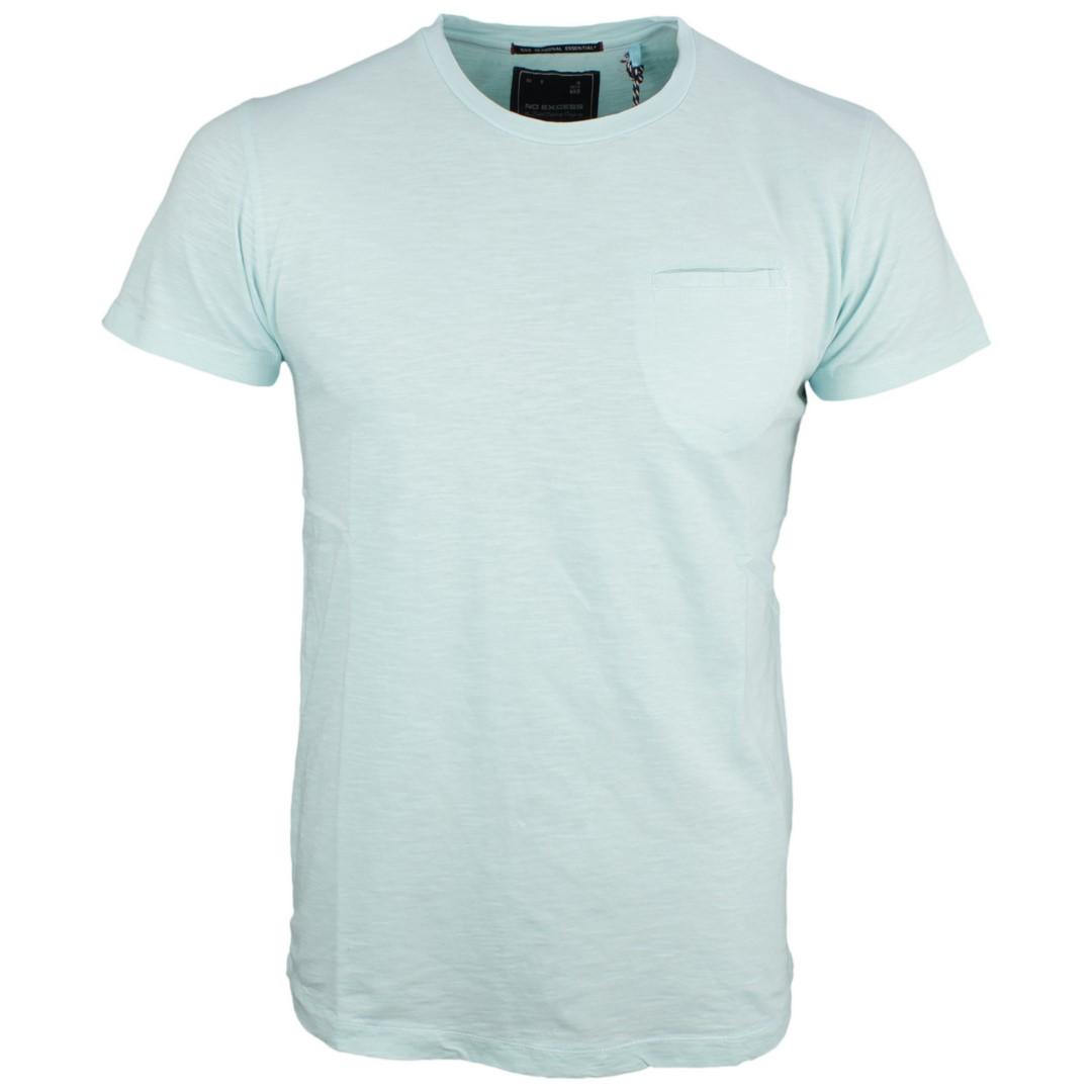 No Excess Herren T-Shirt Shirt kurzarm hell blau meliert 90340401N 125 lt seagreen