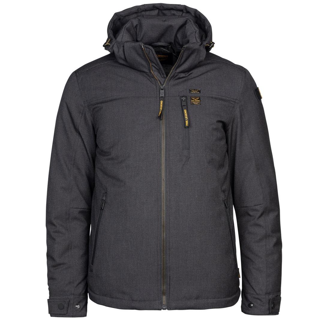 PME Legend Herren Winter Jacke grau PJA215122 Semi Long Jacket Strator Melange T meteorite